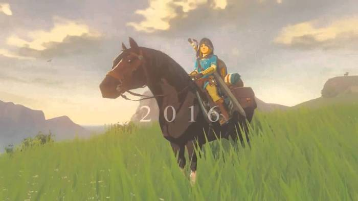 Nintendo Legend of Zelda 2016 promise
