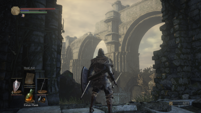 Dark Souls 3 broken bridge view