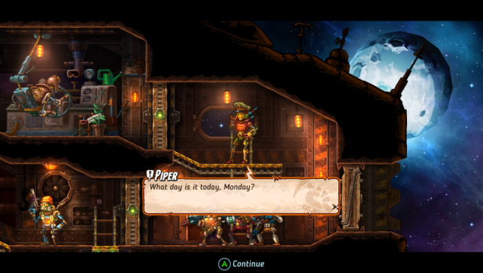 Steamworld Heist Captain Piper Humor