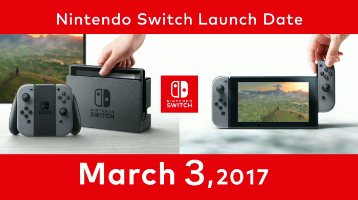 nintendo switch launch zelda