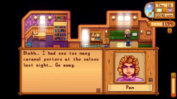 nintendo switch stardew valley pam craft beer