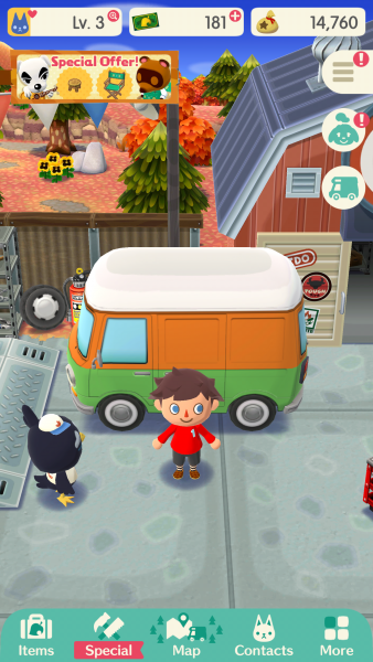 Animal Crossing pocket camp custom van life